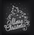 christmas on chalkboard vector image vector image