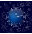 christmas wall clock background vector image vector image