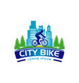 city bike logo banner sign symbol icon vector image