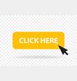 click web button template yellow bar computer vector image vector image