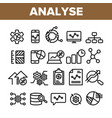 collection analyse element sign icons set