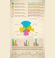 colorful infographics set vector image vector image