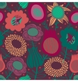 Colorful seamless floral pattern vector image vector image
