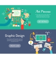 Creative Process Banners vector image vector image
