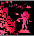 cupid with a watering can and hearts vector image