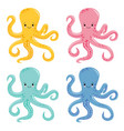 cute octopus isolated on white vector image vector image