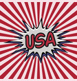 declaration of usa pop art comic speech bubble usa vector image vector image