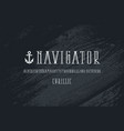 decorative narrow serif font in nautical style vector image