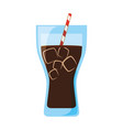 delicious fresh drink vector image vector image