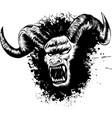 diabolik demon face tattoo vector image