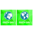 earth day flat green icon set isolated on white vector image vector image