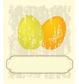 Easter card with hand drawn eggs vector | Price: 1 Credit (USD $1)
