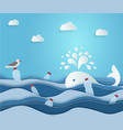 ecological blue banner or poster plastic vector image vector image