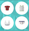 flat icon dress set of brasserie singlet vector image vector image