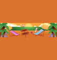 flat tropical sea beach vacation panorama vector image vector image
