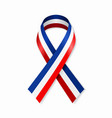 french flag stripe ribbon on white background vector image