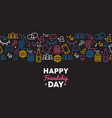 friendship day fun card with friend party icons vector image vector image