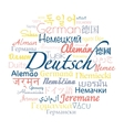 German language collage vector image