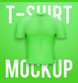 Green t-shirt on background Product mockup vector image vector image