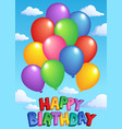 happy birthday topic image 4 vector image vector image
