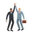 happy business workers vector image vector image