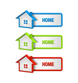 house icons and buttons vector image vector image