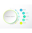 infographic colorful milestones time line vector image vector image
