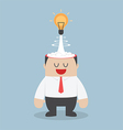 Light bulb of idea exploding from businessman head vector image vector image