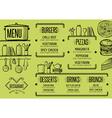 Menu restaurant food template placemat vector image vector image