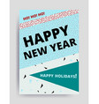 Merry christmas New Year design vector image