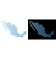 mexico map hexagonal abstraction vector image vector image