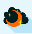 moon icon isolated vector image vector image