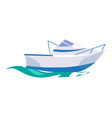 motorboat ship on water vector image vector image