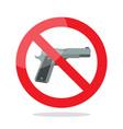 no gun symbol vector image vector image
