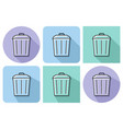 outlined icon of refuse bin with parallel and not vector image vector image