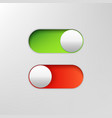 phone switch icon on off toggle for design vector image vector image