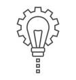 product development thin line icon development vector image vector image