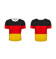 realistic sport t-shirt with germany flag from vector image vector image