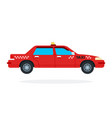 red urban taxi flat isolated vector image