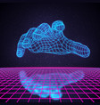 retro 80s futuristic deep space design polygonal vector image