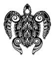 sea turtle tattoo vector image vector image