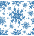 Seamless pattern texture with blue snowflakes vector image