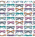 seamless pattern with glasses and sunglasses vector image