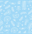seamless pattern with small stylized flowers on a vector image vector image