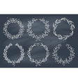Set of winter wreaths on blackboard vector image vector image