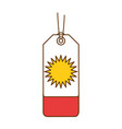 shopping tag isolated icon vector image vector image