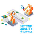 software quality assurance concept vector image vector image
