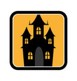 square frame of halloween with scary casttle vector image vector image