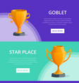 star place victory prize banners vector image vector image