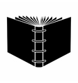 The end of open spiral book black simple icon vector image vector image
